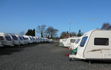 Caravans in the yard