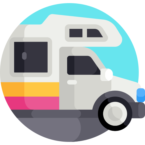 coloured motorhome icon