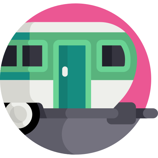 coloured caravan icon