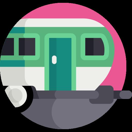 coloured caravan icon