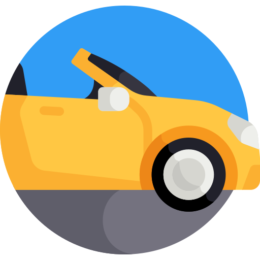 coloured convertible-car icon