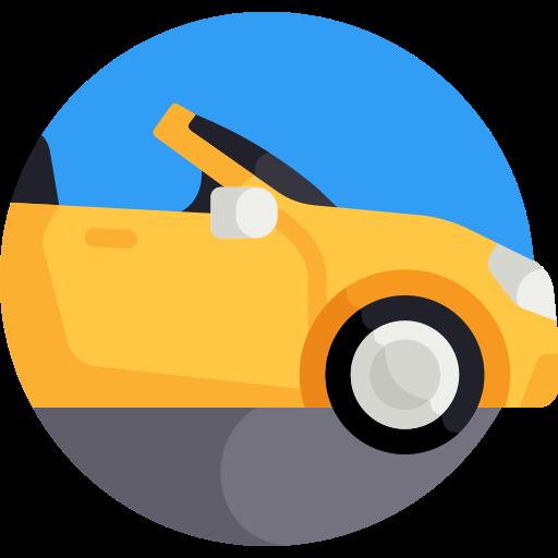 coloured convertible-car icon