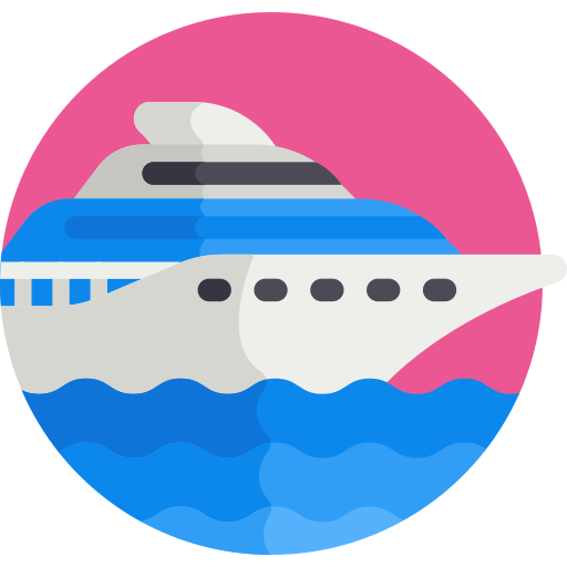 coloured boat icon